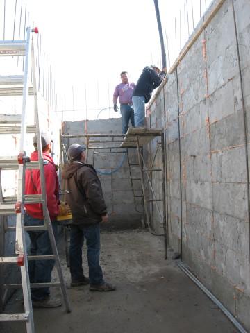 Cement Pour Walls