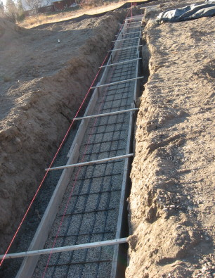 Foundation Footings Prepared