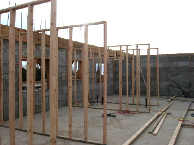Interior Walls Framed