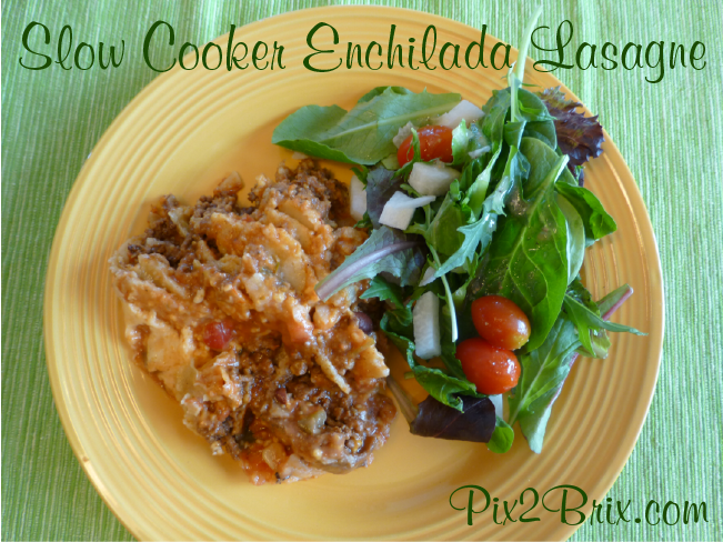 Slow Cooker Enchilada Lasagne