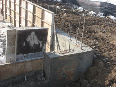 Stem walls are poured and ready for Foundation stem wall