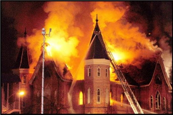 Provo Tabernacle Burning
