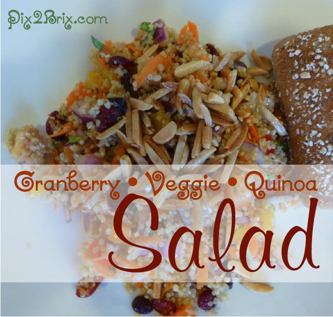 Cranberry Veggie Quinoa Salad