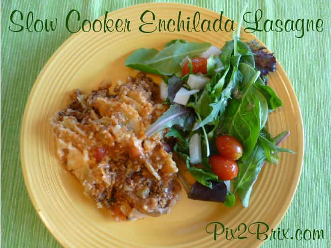 Slow Cooker Enchilada Lasagne